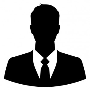 Silhouette of a businessman for use as a profile picture